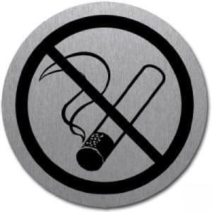 Piktogramm - Rauchen verboten (rund, mit Rand) Motiv 2