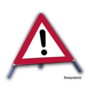 Faltsignal - Gefahrenstelle ohne Text