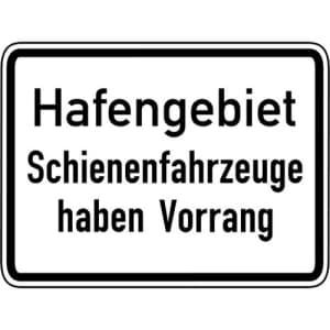 VZ 1008-33: Hafengebiet, Schienenfahrzeuge haben Vorrang
