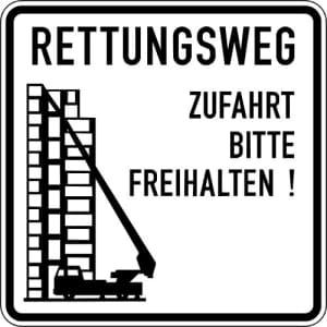 VZ 2441 Schild Rettungsweg - Zufahrt freihalten!