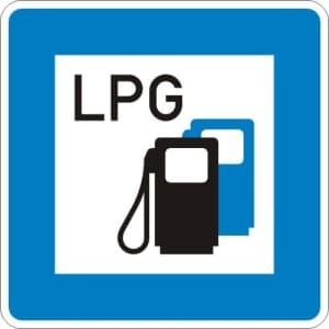 StVO-Hinweisschild: Tankstelle mit Autogas VZ 365-53