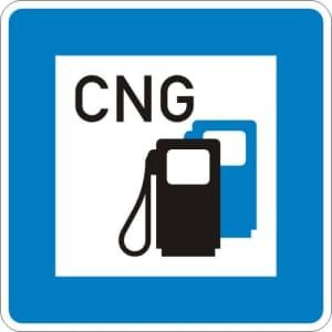 StVO-Hinweisschild: Tankstelle mit Erdgas VZ 365-54