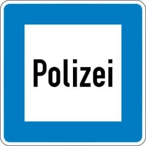 Autobahn-Hinweisschild Polizei VZ 363