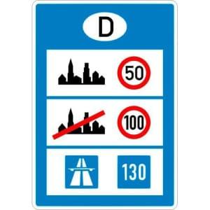 VZ 393 Informationstafel an Grenzübergängen