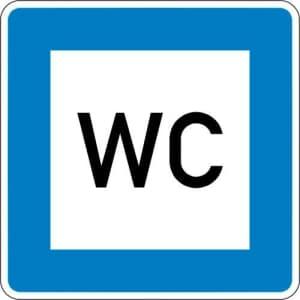 Autobahn-Hinweisschild WC- VZ 365-58