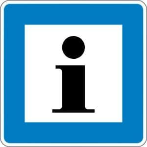 Informationsstelle StVO-Hinweisschild VZ 365-61