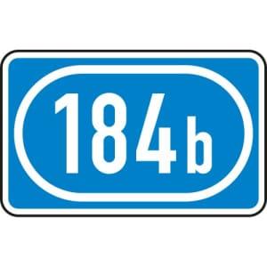 Schild Knotenpunkte Autobahnen drei bis vierstellig VZ 406-51