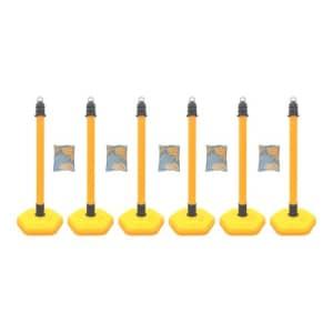 Kettenständer - Kettenpfosten-Set MultiMax: 6 Pfosten + 5 x 3 m Kunststoffkette
