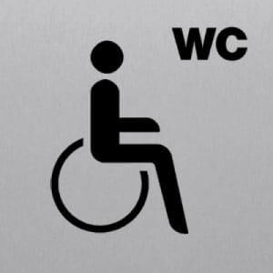 WC behindertengerecht eckig
