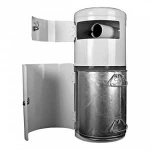 Hunde-Toilette mit integriertem Beutelspender und Behälter inkl. Pfosten - Inhalt 20 Liter