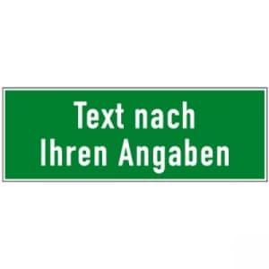 Rettungswegschilder mit Text nach Ihren Angaben