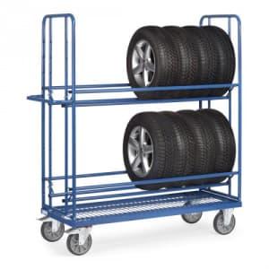 Reifenwagen mit Drahtgitterboden - Tragkraft 400 kg