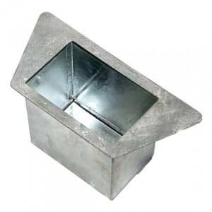 Aschereinsatz für Stand-Abfallbehälter mit abgeschrägter / gewölbter Abdeckhaube