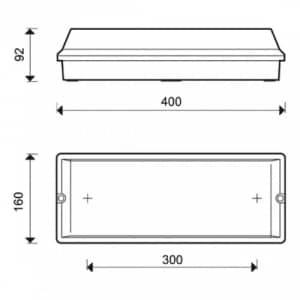 Frostsichere Notleuchte FROST-LUX LED (Wand-/Deckenaufbau)