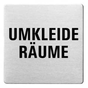Textschild - Umkleide Räume (ecken abgerundet)