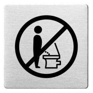 Piktogramm - Die Toilette nicht im Stehen benutzen (ecken abgerundet)
