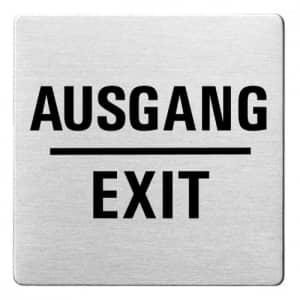 Textschild - Ausgang/Exit (ecken abgerundet)