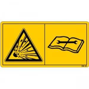 Druckspeicher steht unter Gas- und Öldruck. Ausbau und Reparatur nur nach Anweisung im technischen Handbuch vornehmen.