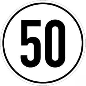 Geschwindigkeitsschilder 50 km/h