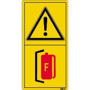 Inbetriebnahme der Maschine nur mit geeignetem Feuerlöscher erlaubt.