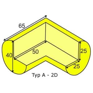 Eckschutzwinkel zweidimensional für Profil A