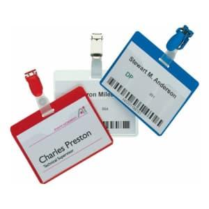 Namensschild mit Clip - vorne offen, Durable (25er VPE)