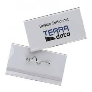 Namensschild mit Nadel, Durable (100er VPE)