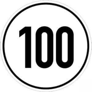 Geschwindigkeitsschilder 100 km/h