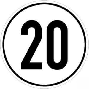 Geschwindigkeitsschilder 20 km/h
