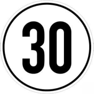 Geschwindigkeitsschilder 30 km/h