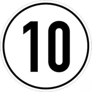 Geschwindigkeitsschilder 10 km/h