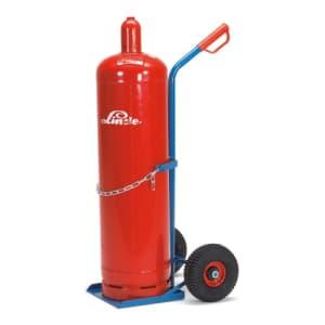Stahlflaschenkarre für 1x 33 l/kg Flasche - Tragkraft 100 kg