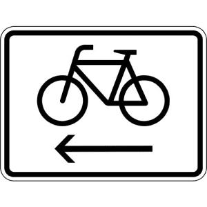 Fahrräder, linksweisend Zusatzzeichen VZ 2201