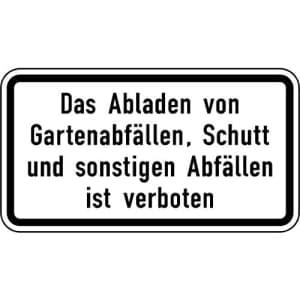 Zusatzzeichen Das Abladen von... ist verboten VZ 2503