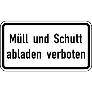 Zusatzzeichen Müll und Schutt abladen verboten VZ 2502