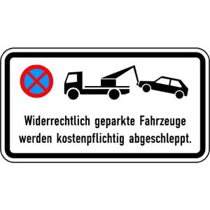 Zusatzschild-Haltverbot: Widerrechtlich geparkte Fahrzeuge...