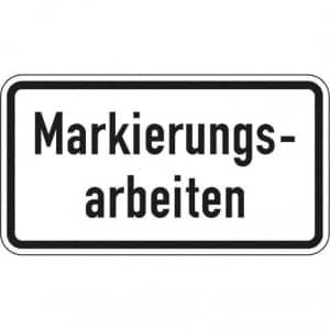 Zusatzzeichen Markierungsarbeiten Zusatzschild VZ 2114