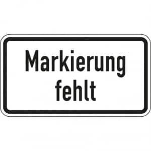 Zusatzzeichen Markierung fehlt Zusatzschild mit VZ 2113