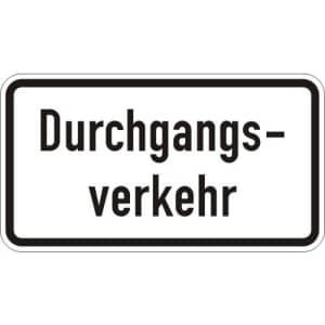 Zusatzschild Durchgangsverkehr Zusatzzeichen 1053-36