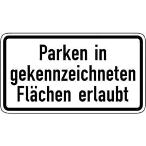Parken in gekennzeichneten Flächen erlaubt VZ 1053-30