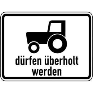 Zusatzzeichen Kraftfahrzeuge & Züge bis 25 km/h...