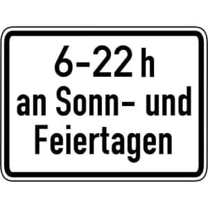 Zeitliche Beschränkung Sonn- und Feiertage VZ 1042-35