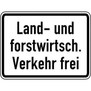 Land- und forstwirtschaftlicher Verkehr frei VZ 1026-38