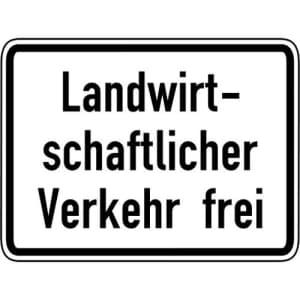 Landwirtschaftlicher Verkehr frei Zusatzschild VZ 1026-36
