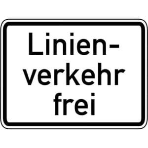 Zusatzzeichen Linienverkehr frei Zusatzschild VZ 1026-32