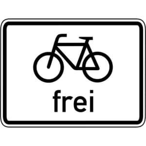 Zusatzzeichen Radfahrer frei Zusatzschild VZ 1022-10