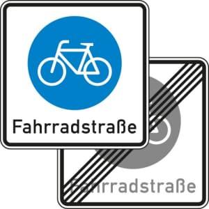 VZ 244.1-40 Verkehrsschild Fahrradstraße