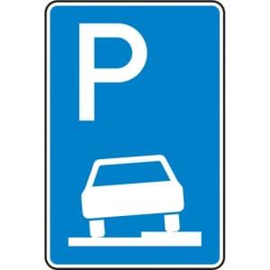 Verkehrszeichen 315-55 Parken auf Gehwegen Schild