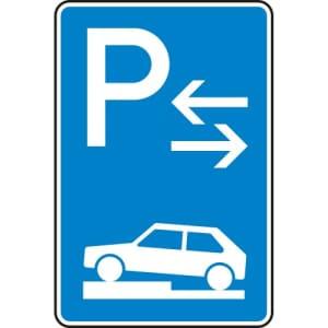 Verkehrszeichen 315-73 Parken auf Gehwegen Schild (Mitte)