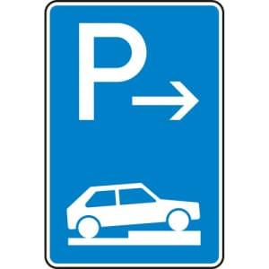 Verkehrszeichen 315-77 Parken auf Gehwegen Schild (Ende)